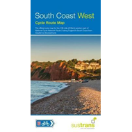 Produktbilde for South Coast West Cycle Map (BOK)