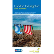 Produktbilde for London To Brighton Cycle Route Map - Official map to the 68 mile ride on NCN21 (BOK)