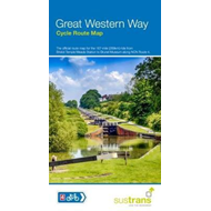Produktbilde for Great Western Way Cycle Route Map - Bristol Temple Meads to Brunel Museum NCN4 (BOK)