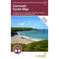Produktbilde for Cornwall Cycle Map 1 - Including The Camel Trail, Clay Trails, Mineral Tramways, Cornish Way and 4 i (BOK)