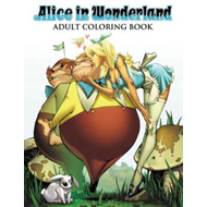Produktbilde for Alice in Wonderland Adult Coloring Book (BOK)