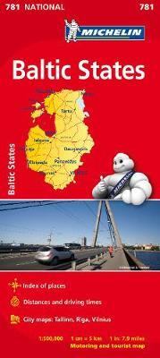 Baltic States - Michelin National Map 781 (BOK)
