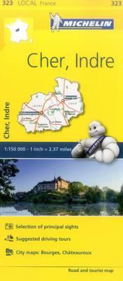 Cher, Indre, France Local Map 323 (BOK)
