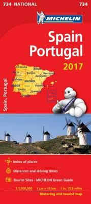 Spain & Portugal 2017 National Map 734 (BOK)