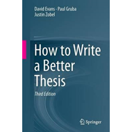 How to Write a Better Thesis (BOK)