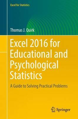 Excel 2016 for Educational and Psychological Statistics (BOK)