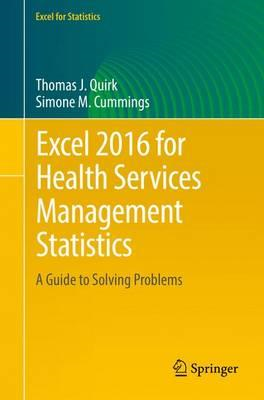 Excel 2016 for Health Services Management Statistics (BOK)