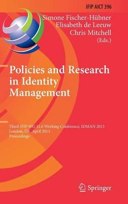 Policies and Research in Identity Management (BOK)