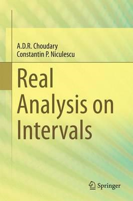 Real Analysis on Intervals (BOK)