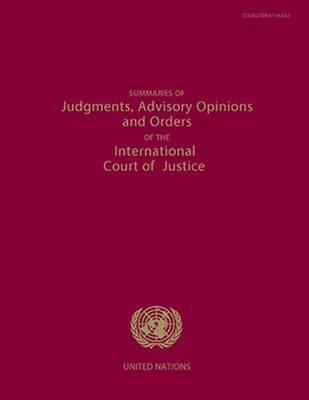 Summaries of Judgments, Advisory Opinions and Orders of the (BOK)