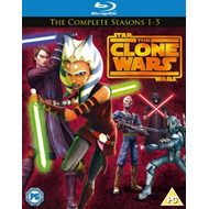 Star Wars - The Clone Wars - Sesong 1 - 5 (UK-import) (BLU-RAY)