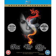 The Girl Who... Millennium Trilogy - Extended Versions (UK-import) (BLU-RAY)