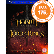 Produktbilde for The Hobbit Trilogy/The Lord of the Rings Trilogy: Extended... (UK-import) (BLU-RAY)