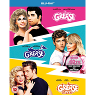 Grease/Grease 2/Grease Live! (UK-import) (BLU-RAY)