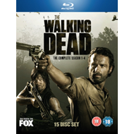 The Walking Dead: The Complete Season 1-4 (UK-import) (BLU-RAY)