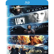 47 Ronin/R.I.P.D./Immortals/Dracula Untold/Lucy (UK-import) (BLU-RAY)
