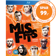 Produktbilde for Misfits: Series 1-5 (UK-import) (BLU-RAY)