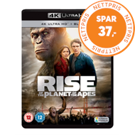 Produktbilde for Rise Of The Planet Of The Apes (UK-import) (4K Ultra HD + Blu-ray)