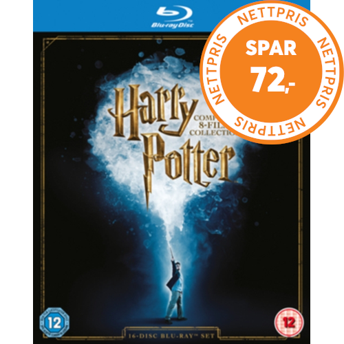 Harry Potter: The Complete 8-Film Collection (UK-import) (BLU-RAY)