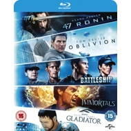 Produktbilde for 47 Ronin/Oblivion/Battleship/Immortals/Gladiator (UK-import) (BLU-RAY)