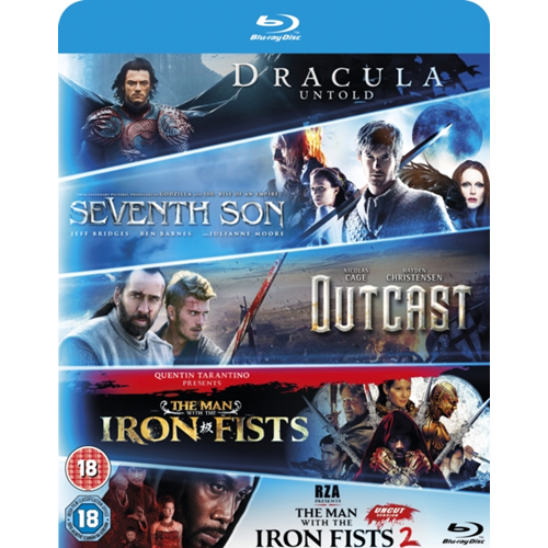 Dracula Untold/Seventh Son/Outcast/Man With The Iron Fists 1 & 2 (UK-import) (BLU-RAY)
