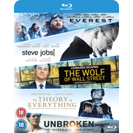 Produktbilde for Everest/Steve Jobs/Wolf Of Wall Street/Theory Of Everything/... (UK-import) (BLU-RAY)