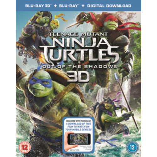 Teenage Mutant Ninja Turtles: Out Of The Shadows (UK-import) (Blu-ray 3D)