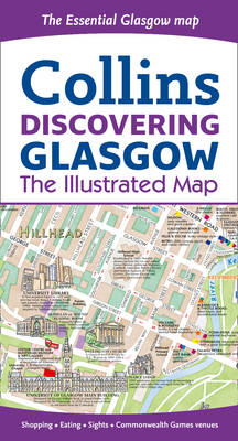 Discovering Glasgow Illustrated Map (BOK)