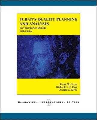 Juran's Quality Planning and Analysis for Enterprise Quality (BOK)