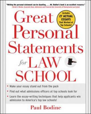 Great Personal Statements for Law School (BOK)