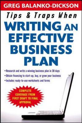 Tips and Traps for Writing an Effective Business Plan (BOK)