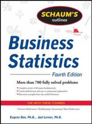 Schaum's Outline of Business Statistics, Fourth Edition (BOK)