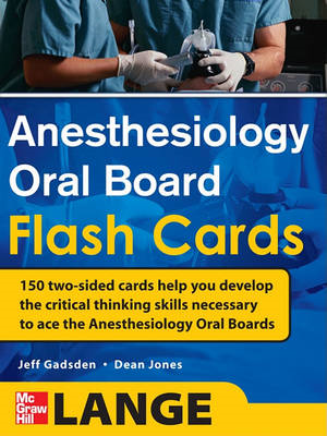 Anesthesiology Oral Board Flash Cards (BOK)