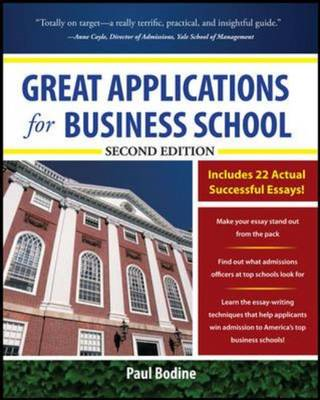 Great Applications for Business School, Second Edition (BOK)