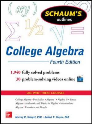 Schaum's Outline of College Algebra (BOK)