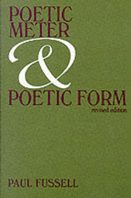 Poetic Meter and Poetic Form (BOK)