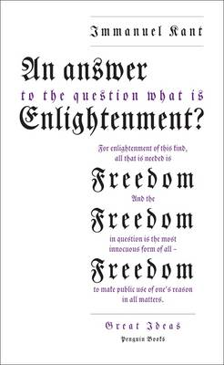 Answer to the Question: 'What is Enlightenment?' (BOK)