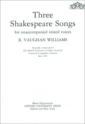 Three Shakespeare Songs: Vocal Score (BOK)