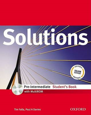 Solutions: Pre-intermediate: Student's Book with MultiROM Pack (BOK)