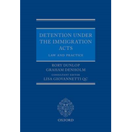 Detention under the Immigration Acts: Law and Practice (BOK)