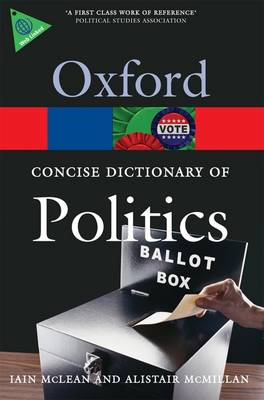 Concise Oxford Dictionary of Politics (BOK)
