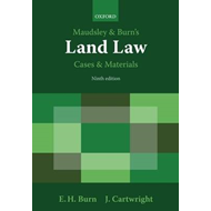 Maudsley & Burn's Land Law Cases and Materials (BOK)