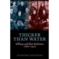 Thicker Than Water: Siblings and Their Relations, 1780-1920 (BOK)
