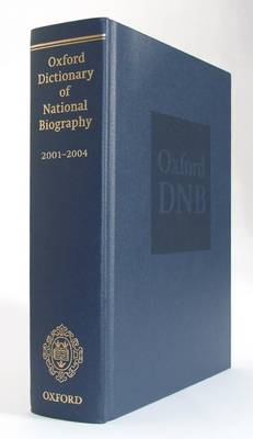 Oxford Dictionary of National Biography 2001-2004 (BOK)
