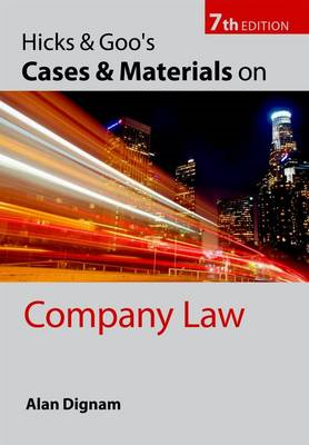 Hicks & Goo's Cases and Materials on Company Law (BOK)