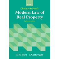 Cheshire and Burn's Modern Law of Real Property (BOK)