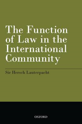 Function of Law in the International Community (BOK)