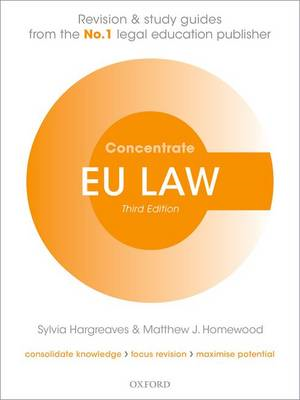 EU Law Concentrate: Law Revision and Study Guide (BOK)