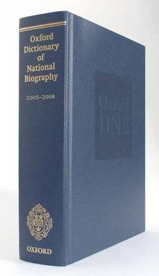 Oxford Dictionary of National Biography 2005-2008 (BOK)