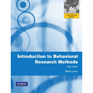Introduction to Behavioral Research Methods (BOK)